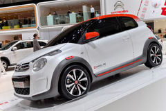 Citroen at the 2014 Geneva Motorshow. The new Citroen C1 at the 2014 Geneva Motorshow Stock Image