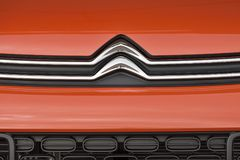 Citroen logotype on a car Stock Image