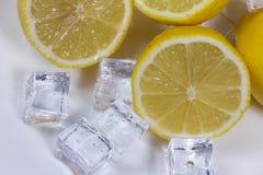 Citroen met ijs Royalty-vrije Stock Fotografie