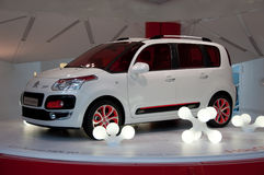 Citroen New Models, Paris, Champs Elysee Showroom. Citroen C3 Picasso at the Champs Elysee, Paris auto showroom Stock Image