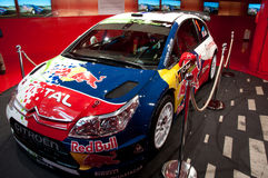 Citroen, Paris, Champs Elysee Showroom, New Cars. Citroen Racing Rally Car on display at the Citroen Champs Elysee, Paris, auto showroom Stock Image