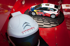Citroen Rally Car, Paris, Champs Elysee, New Cars. Rally car / racing display at the Citroen Champs Elysee, Paris auto showroom Stock Photo