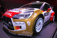 Citroen rally car at Paris Motor Show 2014 Royalty Free Stock Images