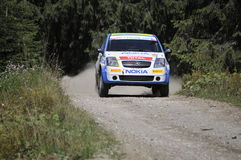 Citroen rally car Stock Image