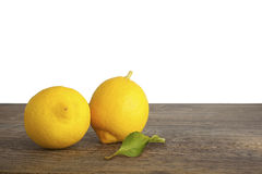 Citroen, Sicilië, Citrusvrucht, Tak, geïsoleerd Blad, Geel, Royalty-vrije Stock Foto's