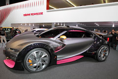 Citroen Survolt - 2010 Geneva Motor Show. Hot on the heels of last year's concept car, Citroen present their Survolt (a word trick meaning more than volt, in Royalty Free Stock Photos