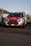 Citroen Team at Wales Rally GB 2008. Citroen C4 Car Leaving Services area in Wales Rally GB 2008 Stock Images