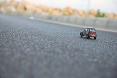 Citroen toy on roadway