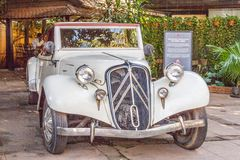A 1934 Citroen Traction Avant. Siem Reap, Cambodia - 13th January 2018: A 1934 Citroen Traction Avant. A reminder of French colonial days royalty free stock images