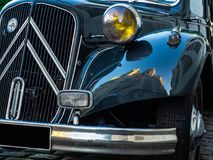 Citroen Traction Avant. A Citroen Traction Avant sitting on a cobbled street near to Sacre Couer in the Montmatre district of Paris royalty free stock images