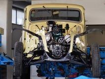 Citroen vintage mechanical workshop Royalty Free Stock Images