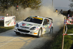 Citroen Xsara WRC  rally car. The Citroen Xsara WRC  driven by Simone Romagna during the 4th edition of Rally Ronde Balcone delle Marche, november 13 , 2011 Royalty Free Stock Photos