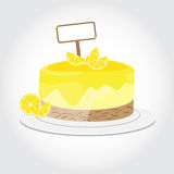 Citroencake Stock Afbeelding