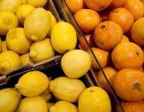 Citroenen en Sinaasappelen Stock Foto
