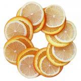 Citroenen en sinaasappelen Stock Afbeeldingen
