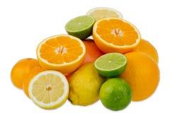 Citroenen, sinaasappelen en kalk stock foto's