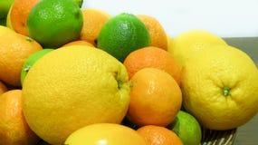 Citroenen, sinaasappelen en kalk Royalty-vrije Stock Foto