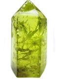Citroengele gele kwarts geologische kristallen Royalty-vrije Stock Foto's