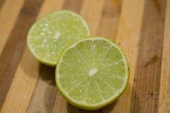 citroenkalk en citrusvrucht stock foto
