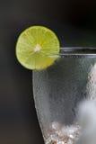 Citroenkalk op glas Stock Afbeelding