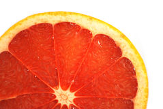 Citron. Half citron is isolated on white, a grapefruit half Royalty Free Stock Photo
