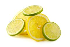 Citron allsorts-kalk, citroen stock foto