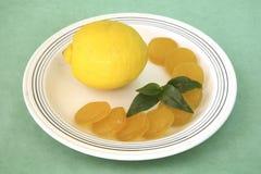 Citron avec des sucreries Image libre de droits