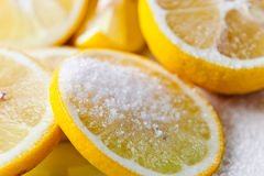 Citron avec du sucre Image libre de droits