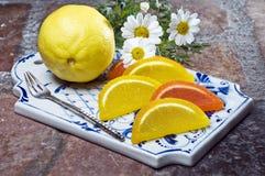 citron coloré de gelée de fruit Images libres de droits