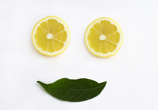 Citron coupé en tranches Photographie stock libre de droits