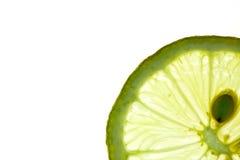 Citron coupé en tranches d'isolement sur le blanc Image libre de droits
