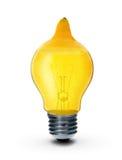 citron d'isolement par ampoule images stock