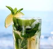 Citron de glace de mojito de cocktail Image libre de droits