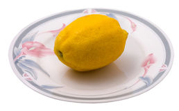 Citron de la plaque Image stock