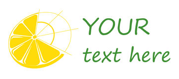 Citron de logo, agrume de logo, logos d'affaires. Images stock