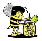 Citron de mélange de miel d'abeille Photos libres de droits