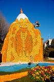 citron du festival祝宴法国柠檬menton 免版税图库摄影