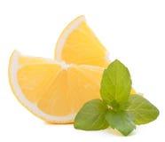 Citron- eller sötcitroncitrusfruktskiva Fotografering för Bildbyråer