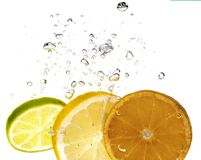 Citron et bulle Images stock