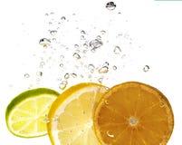 Citron et bulle images stock