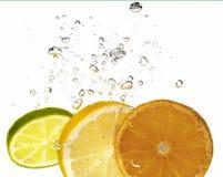 Citron et bulle Photographie stock