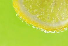 Citron et bulles Image libre de droits