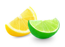 Citron et chaux Image libre de droits