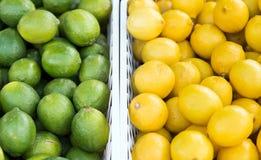 Citron et chaux côte à côte photo stock