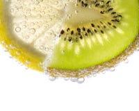 Citron et Kiwi Slices frais Photographie stock libre de droits