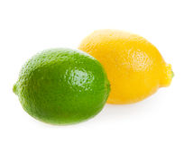 Citron et limette Photos stock