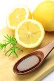 Citron et miel Photographie stock