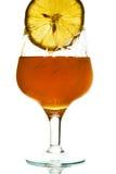 Citron et miel dans la glace Photo stock