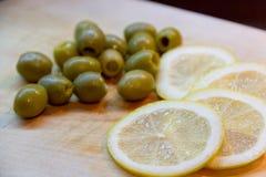 Citron et olives Images libres de droits