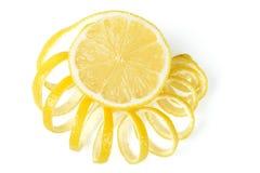 Citron et peau de citron frais Photo stock